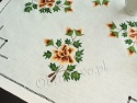 Lniana serweta z ręcznym haftem 80x80 (61)