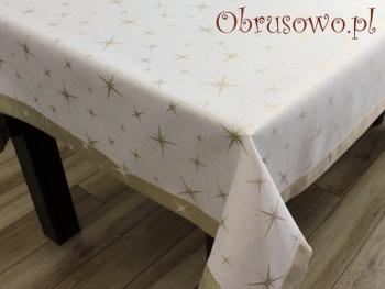 Luksusowy obrus świąteczny 140x180 złoty