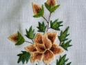 Haft ręczny róża herbaciana