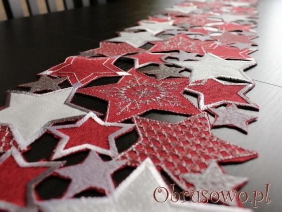 """Pas świąteczny """"Gwiazdy"""" 20x160 (cz)"""