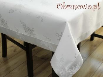 """Obrusy wielkanocne """"pisanki"""" 140x200 srebrny"""