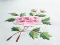 """Bieżnik """"Róża"""" haft ręczny 50x100 (HM63)"""