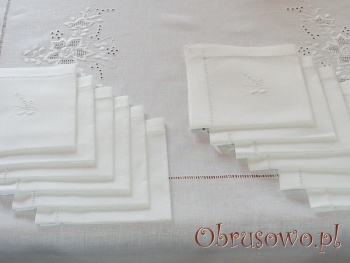 "Obrus Haft Ręczny ""Róża Makowska"" 240+12"