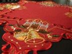 Czerwona serweta świąteczna gwiazda 85 cm