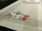 """Bieżniczek świąteczny 35x70 """"Bałwanek len"""""""