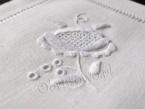 Lniane serwetki z ręcznym haftem komplet 6 szt.
