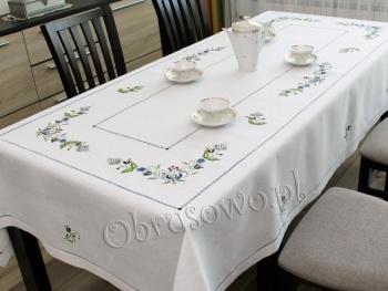 Obrus kaszubski haftowany ręcznie 140x240