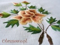 Obrus haft ręczny Róża Herbaciana 140x180