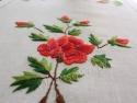 """Ręcznie haftowany bieżnik """"Czerwone Róże"""" 40x140"""