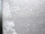 Luksusowy obrus świąteczny 140x300 srebrny