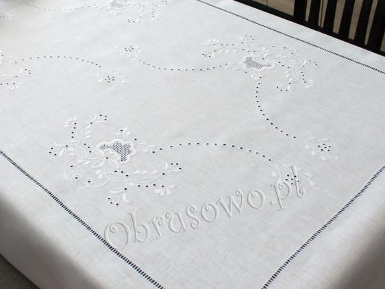 Obrus Makowski 140x240 haftowany ręcznie