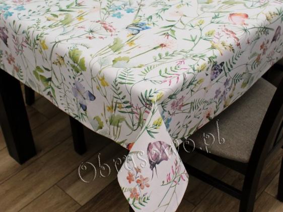 Obrus bawełniany - Motyle 110x160