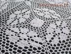 Obrus szydełkowy 150x260 biały