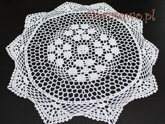 Serweta szydełkowa Ø 50 biała