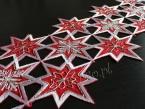 Długi bieżnik świąteczny 20x160 czerwony