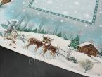 Serweta świąteczna gobelin 98x98 jelonki