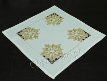Serwetka świąteczna ŚNIEŻYNKI 40x40 biała